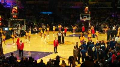 Staples Center, section: 106, row: 18