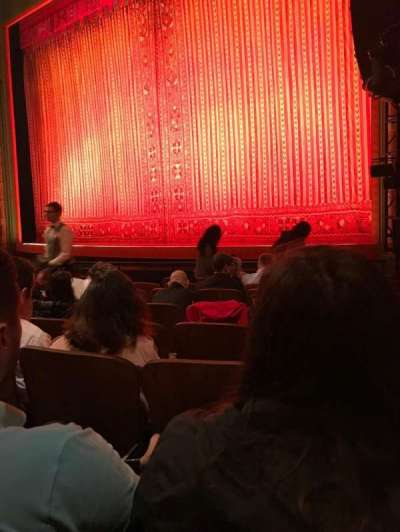 New Amsterdam Theatre, section: Orch, row: J, seat: 18