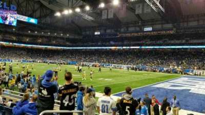 Ford Field, section: 111, row: 6, seat: 4