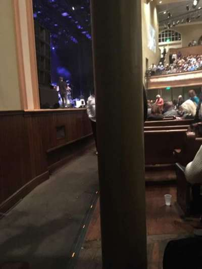 Ryman Auditorium, section: MF-8, row: M, seat: 7