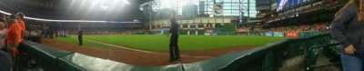 Minute Maid Park, section: 132, row: 1, seat: 8