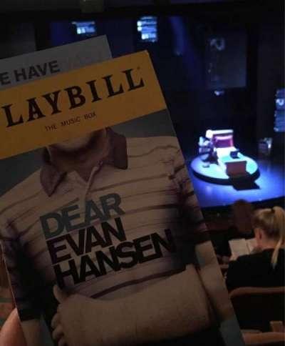 Music Box Theatre, section: Mezzanine Center, row: G, seat: 114