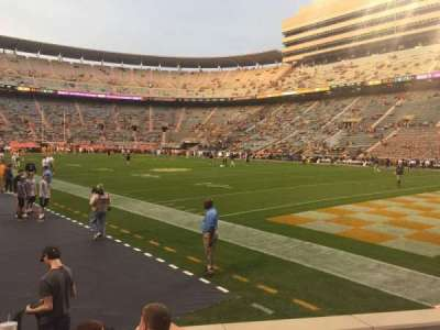 Neyland Stadium, section: P, row: 5, seat: 1