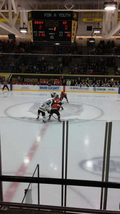 Tate Rink, section: 112, row: D, seat: 10