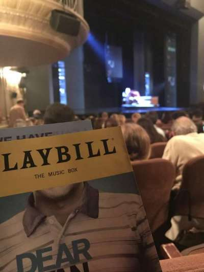 Music Box Theatre, section: Orchestra left, row: M, seat: 27