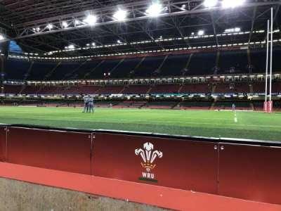 Principality Stadium, section: L6, row: 2, seat: 17