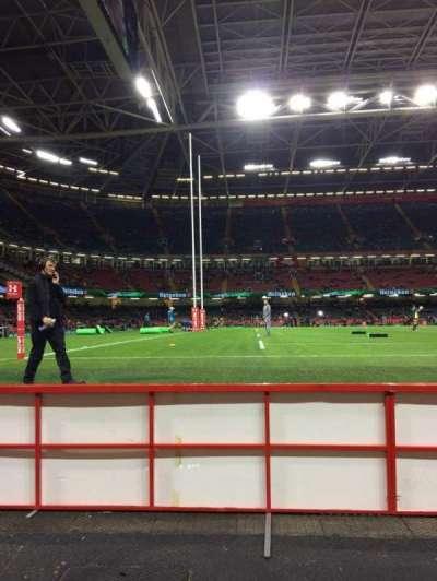Principality Stadium, section: L33, row: 1, seat: 11