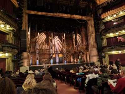 CIBC Theatre, section: Orchestra L, row: R, seat: 1