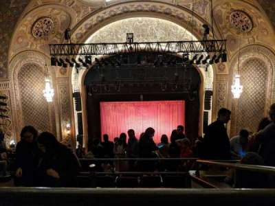 The Paramount Theatre, section: Mez 23, row: M, seat: 8