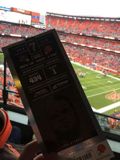 FirstEnergy Stadium, section: Suite 434, seat: 1