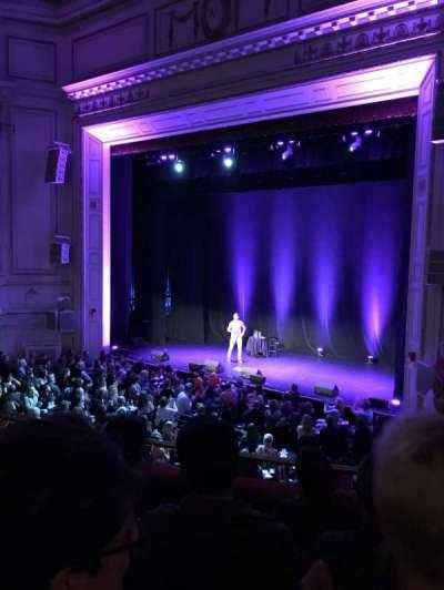 Wilbur Theatre, section: Mezzanine, row: D, seat: 20