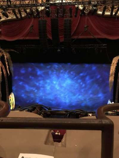Oriental Theatre, section: Loge, row: A, seat: 310