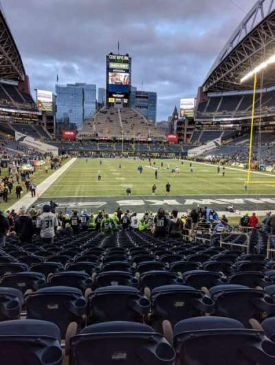 CenturyLink Field, section: 124, row: U, seat: 6