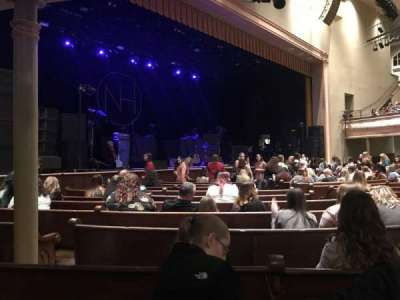 Ryman Auditorium, section: Main Floor 7, row: P, seat: 7