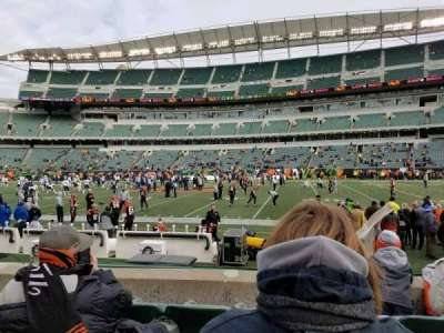 Paul Brown Stadium, section: 109, row: 4, seat: 4