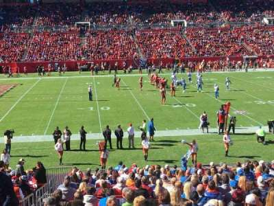 Raymond James Stadium, section: 133, row: WC, seat: 2