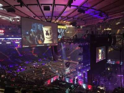Madison Square Garden, section: 214, row: 4, seat: 16