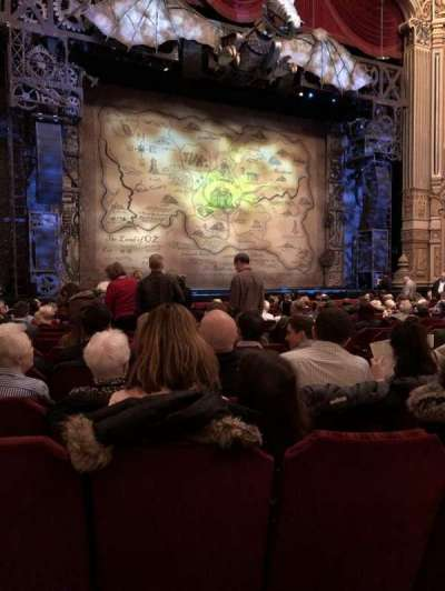 Oriental Theatre, section: Orchestra, row: P, seat: 11