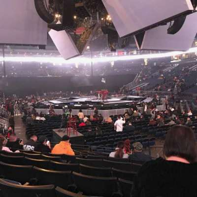 Oracle Arena, section: 110, row: 8, seat: 2