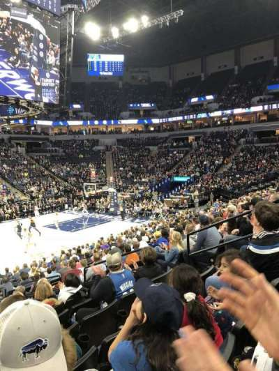 Target Center, section: 112, row: N, seat: 11