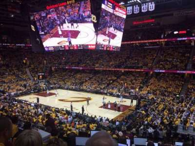 Quicken Loans Arena, section: 111, row: 21