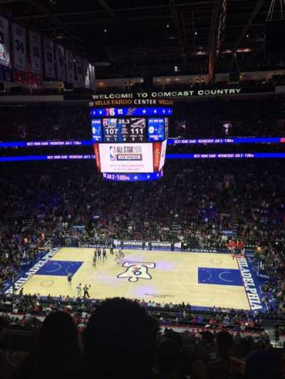 Wells Fargo Center, section: 214, row: 8, seat: 7