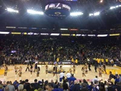 Oracle Arena, section: 102, row: 14, seat: 2