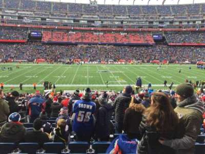 Gillette Stadium, section: 110, row: 34, seat: 18