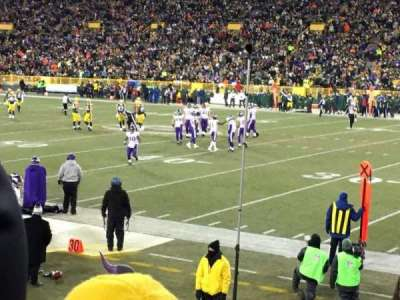 Lambeau Field, section: 113, row: 12, seat: 8