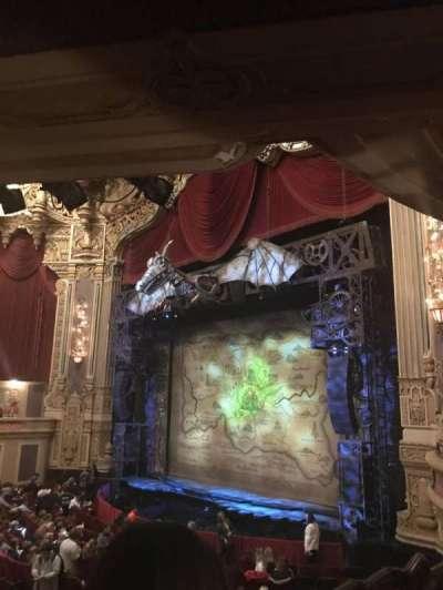 Oriental Theatre, section: Dress Circle, row: CC, seat: 4