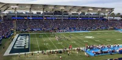 StubHub Center, section: 236, row: MM, seat: aisle