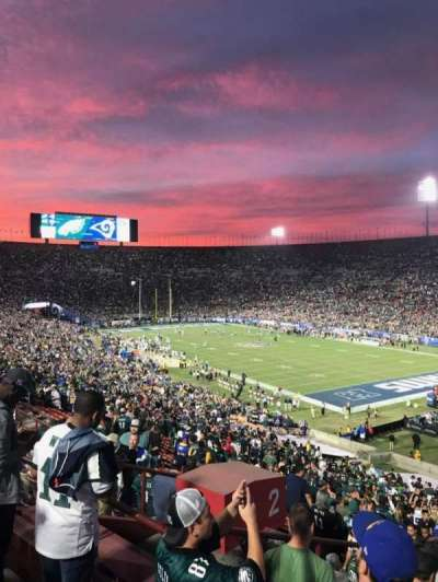 Los Angeles Memorial Coliseum, section: 2H, row: 53, seat: 107