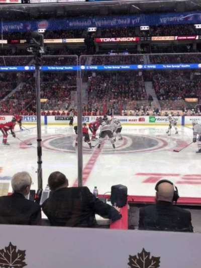 Canadian Tire Centre, section: 116, row: D, seat: 7