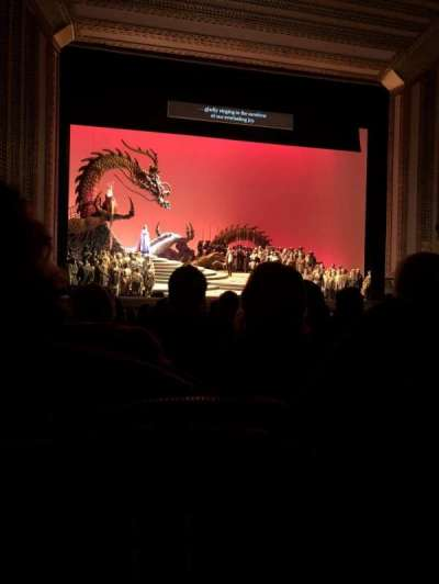 Civic Opera House, section: Orchestra Center, row: N, seat: 10