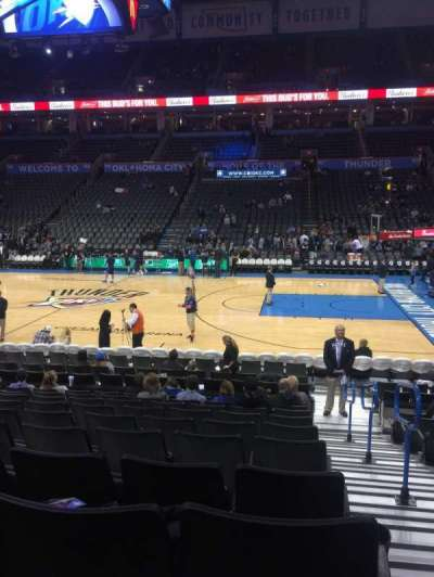 Chesapeake Energy Arena, section: 105, row: L, seat: 1