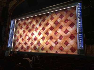 Brooks Atkinson Theatre, section: Orchestra Right, row: H, seat: 10