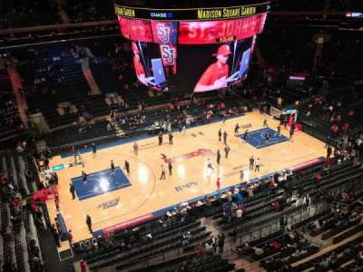 Madison Square Garden, section: 312, row: 1, seat: 1