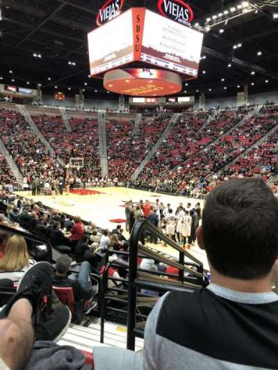 Viejas Arena, section: U, row: 10, seat: 13