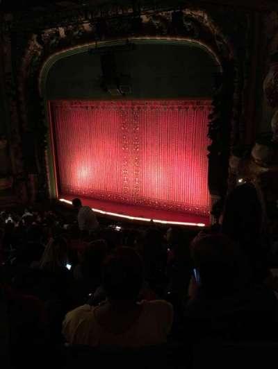 New Amsterdam Theatre, section: Mezz, row: JJ, seat: 24