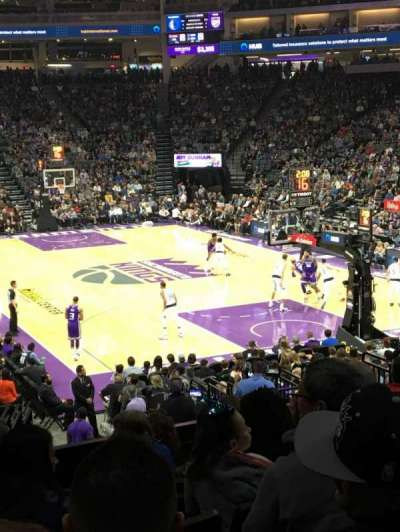 Golden 1 Center Section 115 Row M Seat 11