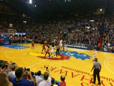 Allen Fieldhouse, section: F, row: 5, seat: 19