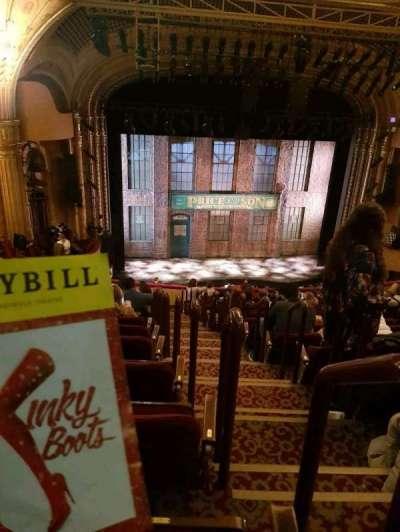 Al Hirschfeld Theatre, section: mezz, row: p, seat: 7
