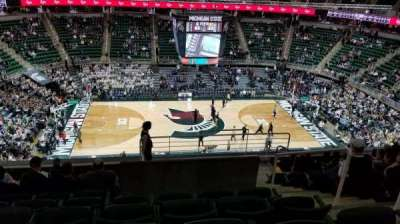 Breslin Center, section: 210, row: 10, seat: 5