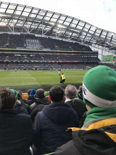 Aviva Stadium, section: 105, row: G, seat: 21