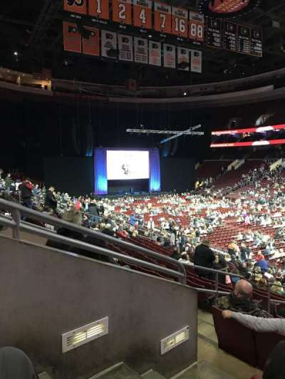 Wells Fargo Center, section: 104, row: 21, seat: 2