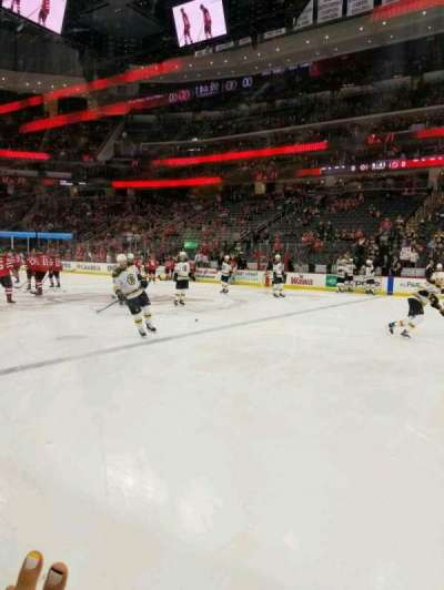 Prudential Center, section: 20, row: GL1, seat: 4