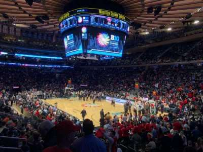 Madison Square Garden, section: 120, row: 11, seat: 10