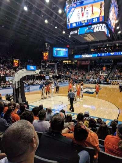 University of Dayton Arena, section: 116, row: G, seat: 3