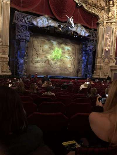 Oriental Theatre, section: Orchestra left, row: V, seat: 17