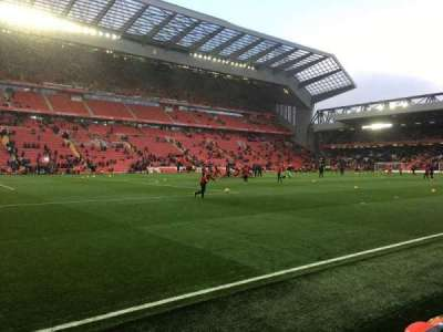 Anfield, section: KN - Kenny Dalglish Stand Lowe, row: 2, seat: 0232